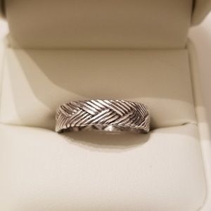 Men's Sterling Silver Band/Ring, Sz 10